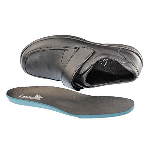 Waldläufer Ken 633301-174-001 homme chaussures noire cuir taille UK 9 ( EU 43)