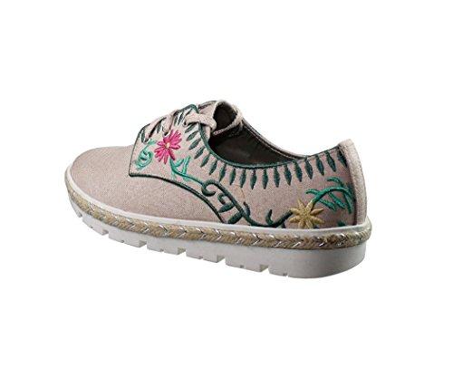 Zapatos de señora con cordones de piel sintetica