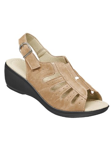 Allison Sandal (Carol Wright Gifts Allison Sandal, Tan, Size 10 (Wide))