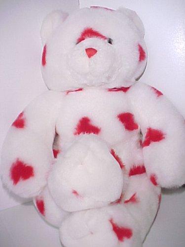 766fd1c5d2e Amazon.com  2003 Build A Bear Hearts-A-Plenty Bear - White Bear with ...