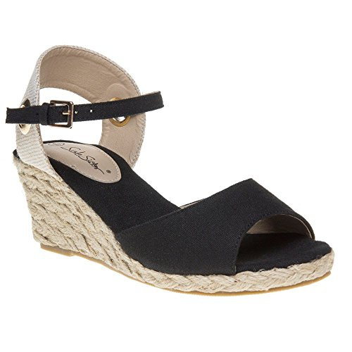 Noir Sandales Femme Solesister Lizzy Lizzy Femme Solesister ngq60wUU