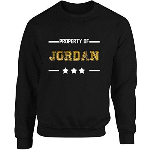 Property Of Jordan Funny Boyfriend Valentine's Gift - Adult Sweatshirt L Black by Wowteez
