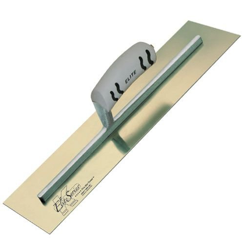 Kraft Tool CFE545PF Elite Series Five Star Golden Stainless Steel Cement Finish Trowel with ProForm Handle, 16 x - Trowel Finish