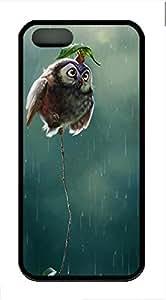 Rain Owl Cover Case Skin for iPhone 5 5S Soft TPU Black by icecream design
