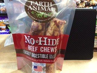 Earth Animal No-Hide Beef Chews 4'' 2pk