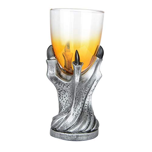 Stainless Steel Dragon Skull Retro Claw Wine Glass Cocktail Glasses Halloween Gothic Resin Cup Party Bar Drinkware 50jb070 -