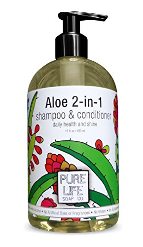 Pure Life 2 in 1 Shampoo and Conditioner, Aloe, 15 Fluid Ounce