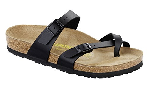 69e4bdea8f5d Galleon - Birkenstock Women s Mayari Adjustable Toe Loop Cork Footbed  Sandal Black 41 M EU