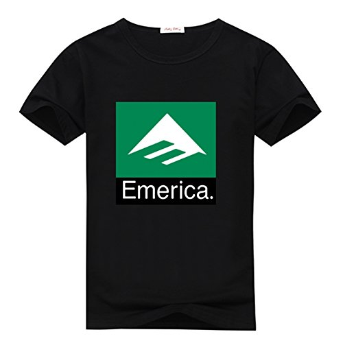 Emerica Combo (Fancesca Emerica Men's Combo 10 Logo Men's Classic Top T-shirt L Black)