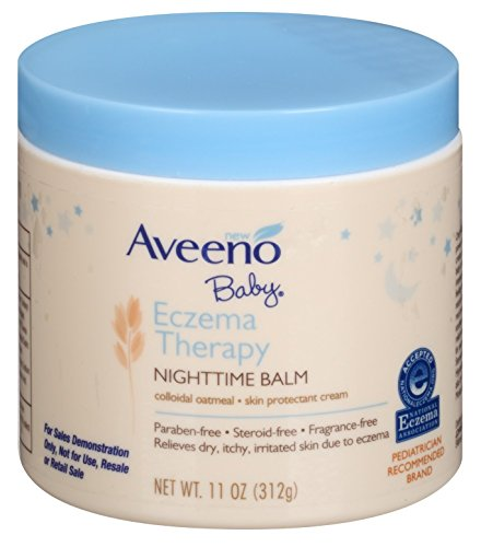 Aveeno Baby Eczema Therapy Night-Time Balm 11 Ounce Jar (325ml) (3 Pack)