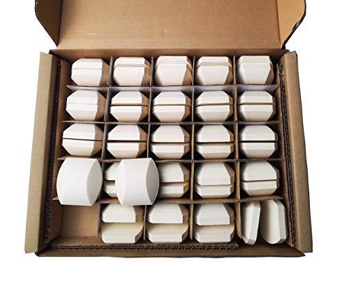 soldbbq Ceramic Briquettes Distribute Heat Replace Part for NEXGRILL, Select Turbo Gas Grill Models, 2 x 2 x 0.8 inch, 50 per Box