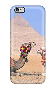 New Style Rugged Skin Case Cover For Iphone 6 Plus- Eco-friendly Packaging(egypt Cairo Camels) 6932550K66257905