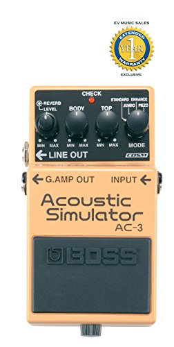 Simulator Effect Pedal - Boss AC-3 Acoustic Simulator Pedal