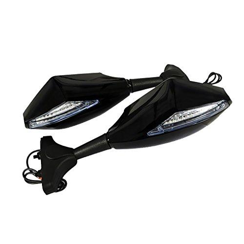 Dolity 1 par Espejo Laterales con LED Indicador de Señal de Vuelta para Moto Suzuki - Tipo 2