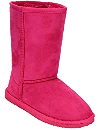 Ge49 Girl's Mid Calf Pull-On Style Winter Snow Boots