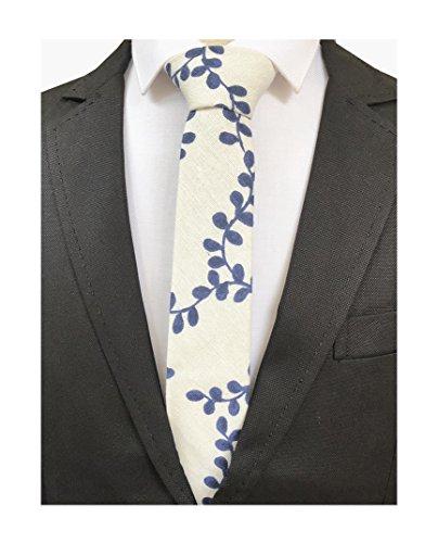 - Men's Ink Printed Jacquard Woven Silk Handmade Tie Super Skinny Novelty Neckties