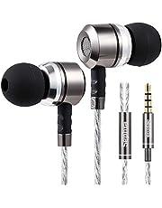 Sephia SP3060 Noise Isolating in-ear Earphones Headphones, HEAVY DEEP BASS for iPhone, iPad, iPod, Samsung Smartphones and Tablets