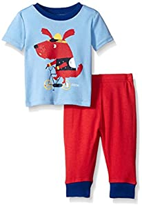 The Children's Place Boys' Bicycle Dog 2 Piece Sleep Set