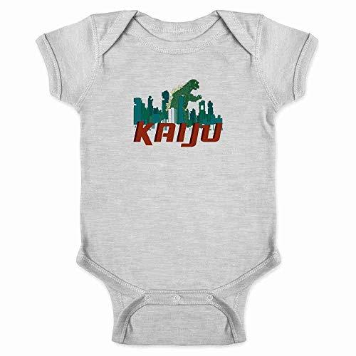 Pop Threads Kaiju Destroying The City Gray 6M Infant Bodysuit ()
