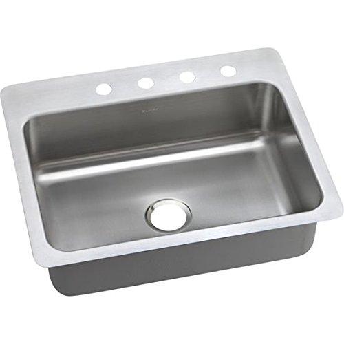 yton Elite 20 Gauge Stainless Steel Single Bowl Dual/Universal Mount Kitchen Sink, 27 x 22 x 8.0625