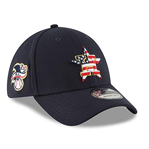 New Era Houston Astros 2018 Stars & Stripes 4th of July 39THIRTY Flex Hat – Navy (New Era Stars)