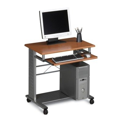 Mayline Empire Mobile PC Workstation - Rectangle - 29.8quot; Height - Steel - Cherry by Mayline