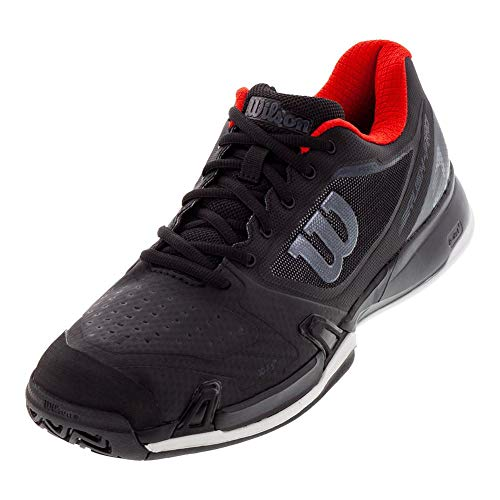 Wilson Men`s 2019 Rush Pro 2.5 Tennis Shoes Black and Red (9 Black and Red)