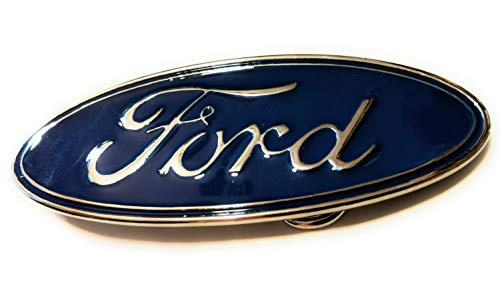Ford Belt Buckle Classic logo Blue chrome SuperGifts 4.8