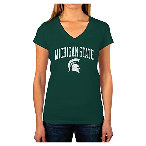 Michigan State Ladies T-shirt - Elite Fan Shop Michigan State Spartans Women's Vintage Tshirt Green Victory - M