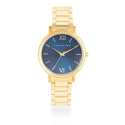 Reloj Luxenter Mujer SG2006WM0200 Nigeria Dorado y Azul: Amazon.es: Relojes