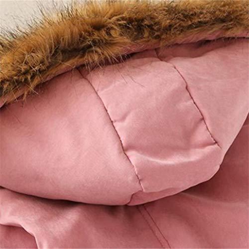 Winter senza Bluse outwear camicie lungo caldo Rosa con donna parka YanHoo collo Felpe cappuccio pelliccia cappotto Donna da Slim da cappotti donna e donna Cardigan cappuccio da giacca zU7Bqw