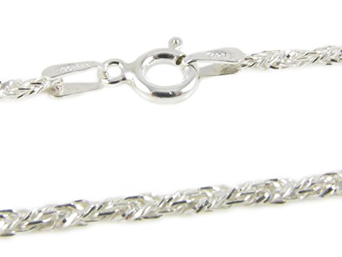925 Sterling Silver 1.3 mm Fox Tail Chain Size: 16 18 20 (18 Foxtail Chain)