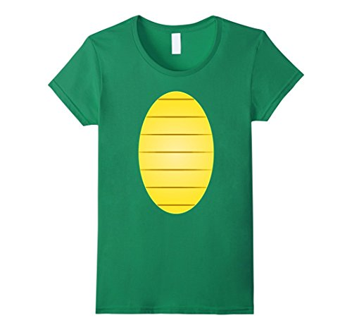 Costumes Simple Diy (Womens Turtle Costume Halloween Shirt Dinausor Simple DIY Costume Small Kelly)