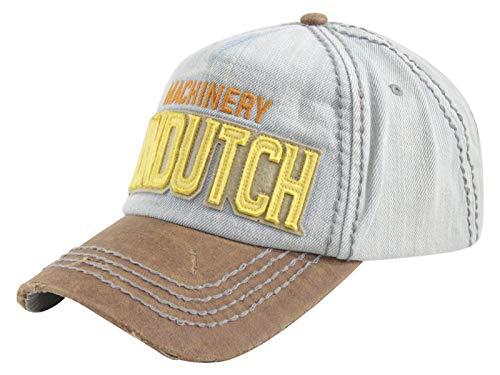 Denim Dutch Von (Von Dutch Machinery Logo Denim Strapback Baseball Cap Hat (One Size Fits Most))