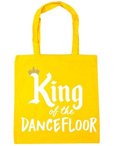 HippoWarehouse rey de la pista de baile bolsa de la compra bolsa de playa 42cm x38cm, 10litros, gris claro (gris) - 21502-TOTE-Light grey amarillo