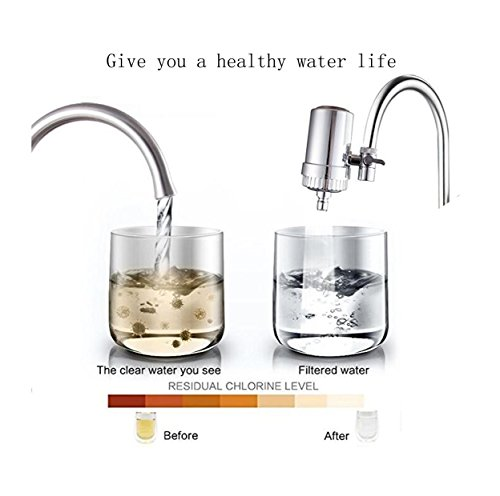 HuangXin Water Filter Faucet and Tap Water Purifier Filter,Suitable for Most Faucets,Easy to Install for Kitchen