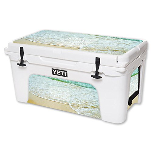 MightySkins Skin For YETI 65 qt Cooler - Aquaholic | Protective, Durable, and Unique Vinyl Decal wrap cover | Easy To Apply, Remove, and Change Styles | Made in the USA by MightySkins