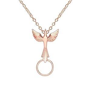 SENFAI Flying Delicate Dove Eyeglass Holder Necklace True Gold Plated Nickel Free (Rose gold)