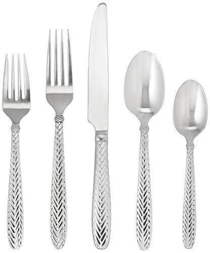 Wallace 5187621 Reins 18/10 Stainless Steel Flatware Set, 20-Piece, Service for - Reins Wallace