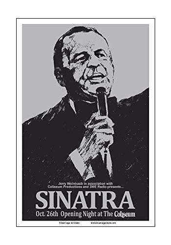Raw Sugar Art Studio Frank Sinatra 1974 Cleveland Concert Poster