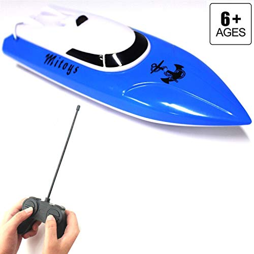 Mitoys RC Boat for Girls and Boys Electric Birthday Gift for Kids 4CH Radio Controlled Boats/Ships Pool & Outdoor Use by Mitoys