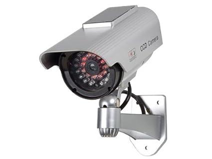 Cámara de vigilancia en domo exterior con ledes de infrarrojos y panel solar