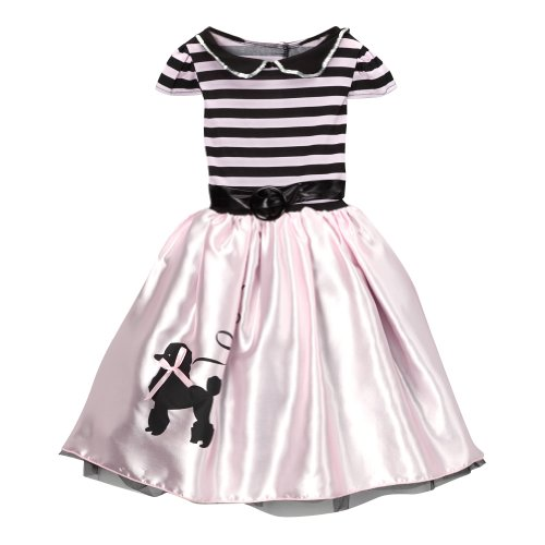 [Girls Storybook Wishes Pink Poodle Dress, Size 8/10] (Make Poodle Skirt Costumes)