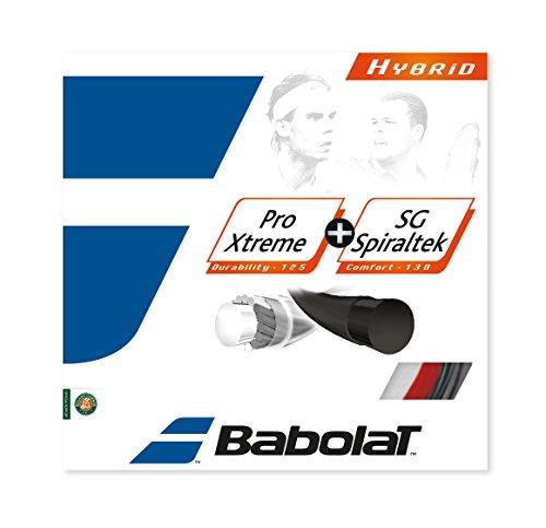 Pro Xtreme 17G and SG Spiraltek 16G Hybrid Tennis String (16g Hybrid Tennis String)