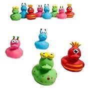 Fun Express 12 Vinyl Monster Rubber Duckies by