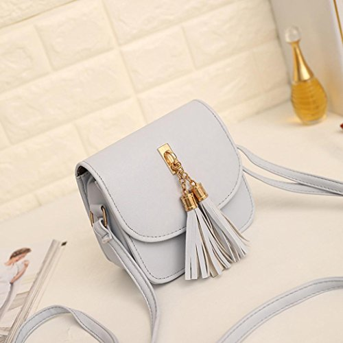 Gray Tassel Purse Fashion KIMODO Handbag Large Women Bag Ladies Tote Shoulder vEwqwAxp