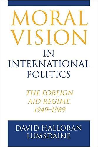 Morality in international politics?