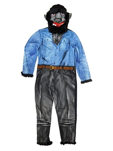 Mens Briefly Stated Werewolf Wolf Union Suit One Piece Pajama Set (Large (42-44))]()