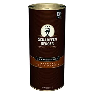 SCHARFFEN BERGER Unsweetened Natural Cocoa Powder, 6-Ounce Canister