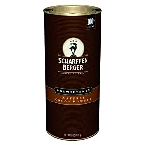Scharffen Berger Natural Unsweetened Cocoa Powder, 6-Ounce Canisters (Pack of 2)